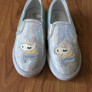 Unicorn and Rainbow Glitter Shoes